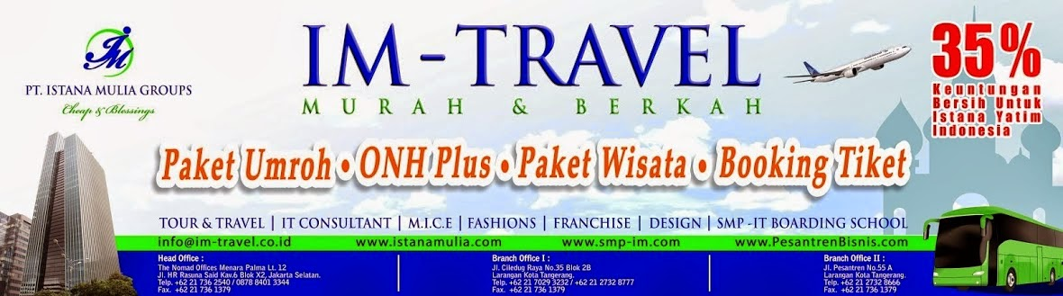 Paket Tour Murah, Wisata Umroh Plus, Travel Umrah dan Biro Haji