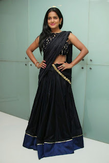 Vishkaha Singh in Spicy Black Desigher Saree and Stunnign Black Blouse