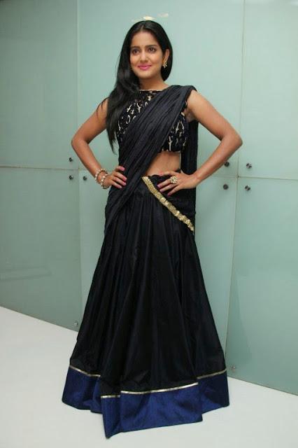 Vishkaha Singh in Spicy Black Desigher Saree and Stunnign Black Blouse
