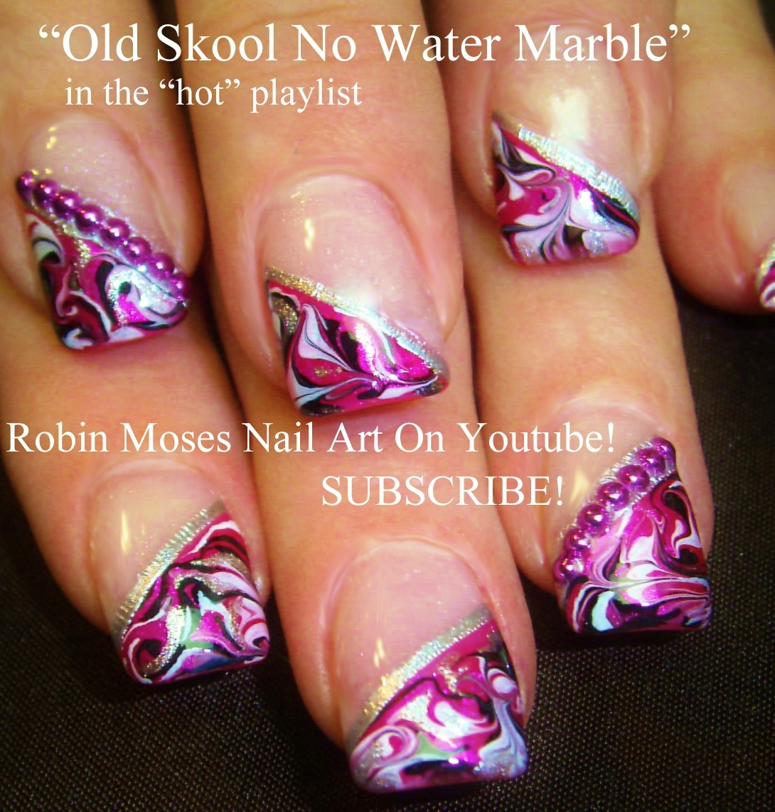 Robin moses nail art black and white no water marble cute marbling ideas fun marbling technique nails with marble effect prinsesfo Choice Image