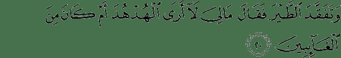 Surat An Naml ayat 20