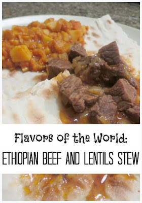 Ethiopian Dinner: Spicy Beef Stew with Red Lentils