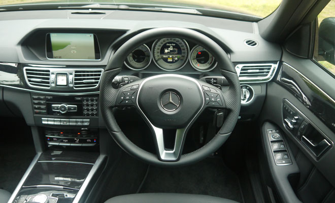 Mercedes-Benz E300 Hybrid cockpit