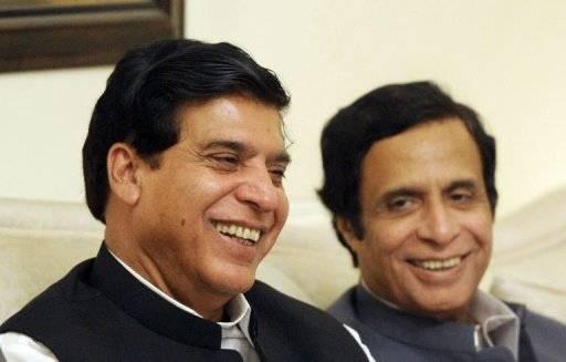 Raja Pervez Ashraf PM with Pervez Elahi Deputy PM
