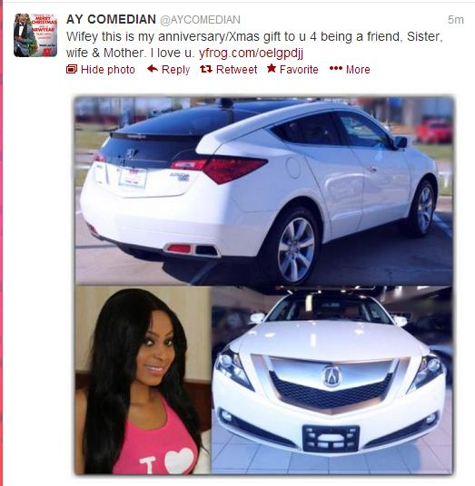 comedian ay car christmas gift wife