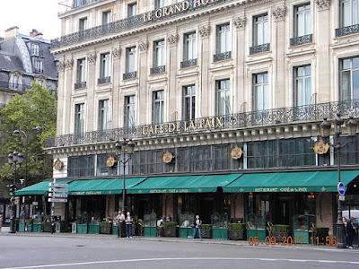 """Place de l'Opera, Cafe de la Paix, Paris"" by Britchi Mirela - Own work. Licensed under CC BY-SA 3.0 via Wikimedia Commons - https://commons.wikimedia.org/wiki/File:Place_de_l%27Opera,_Cafe_de_la_Paix,_Paris.jpg#/media/File:Place_de_l%27Opera,_Cafe_de_la_Paix,_Paris.jpg"