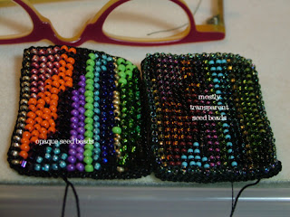choice of bead colors for bead crochet work