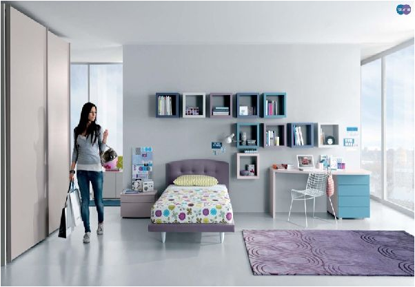 Cool modern teen girl bedrooms home decorating ideas for Teenage bedroom designs