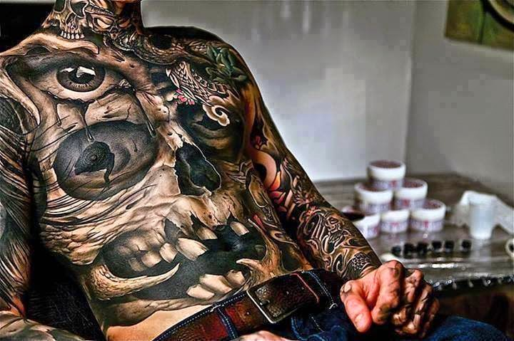 Tattoo Design Full Body Skull Amazing Tattoo 3d