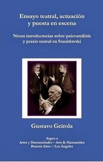 Ensayo teatral, actuación y puesta en escena. Notas introductorias sobre psicoanálisis  y praxis teatral en Stanislavski