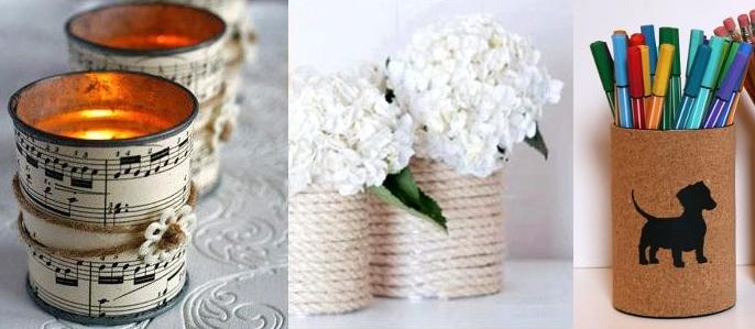 Ideas para decorar interiores con latas recicladas for Ideas de diseno de interiores