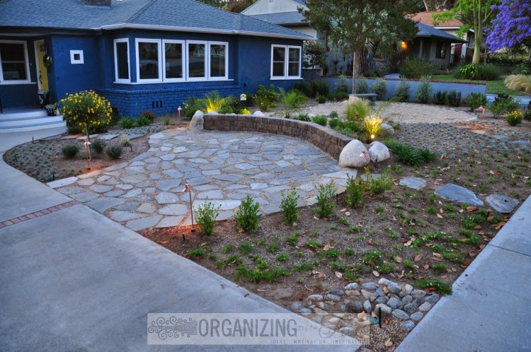 Amazing front yard make over organizing made fun for Drought tolerant yard
