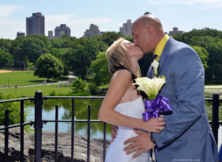 Wedding Kiss - Belvedere Castle Ceremony