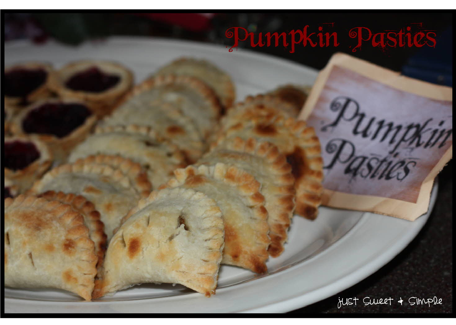 just Sweet and Simple: Harry Potter Pumpkin Pasties