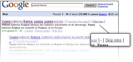 Google oferece link para pular a intro nos resultados  de pesquisa
