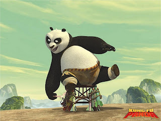 Po seated in Kung Fu Panda 2008 movieloversreviews.blogspot.com