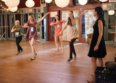 The cast of Bunheads before the mace