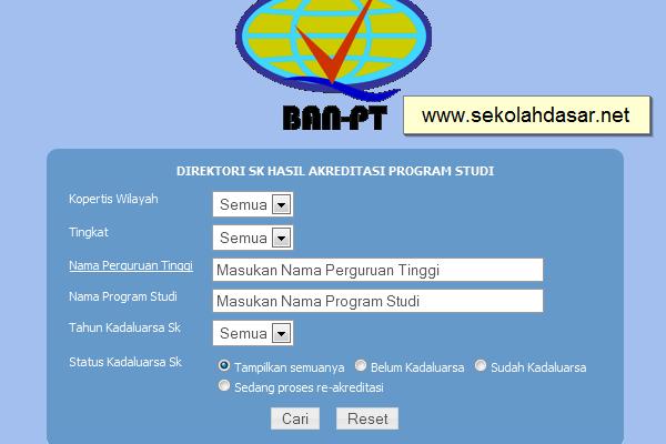 Cara Cek Status Akreditasi Melalui Ban Pt Online