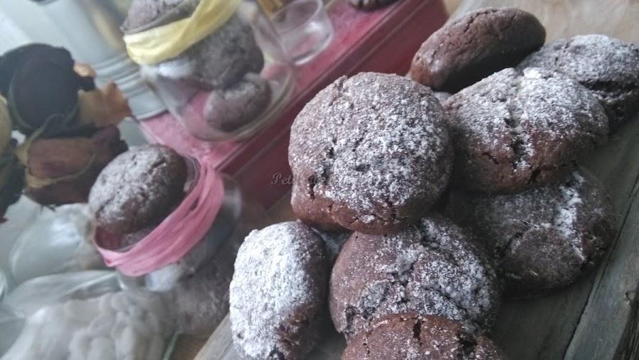 Crinkle cookies: unas originales galletas de textura medio crujiente, medio blanda