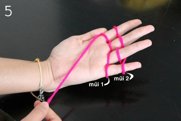 cách tạo đan len bằng tay h5