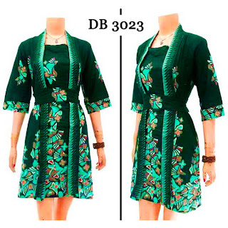 DB3023 Model Baju Dress Batik Modern Terbaru 2013