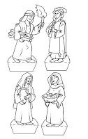 Navidad - Belén para colorear con niños - Molde