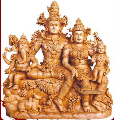 white wood standing ganesha white wood parvathi ganesha statue