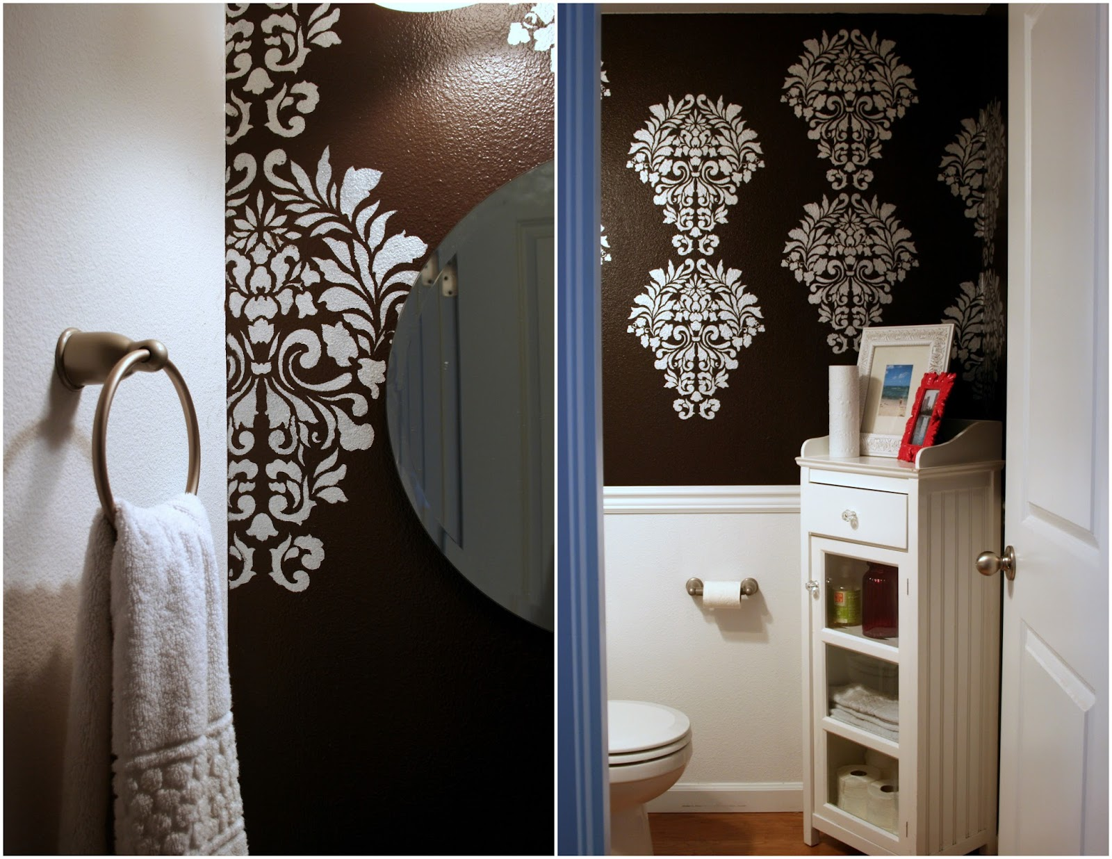 I finally stenciled a wall with this gorgeous pattern in our half 8122013 amipublicfo Images