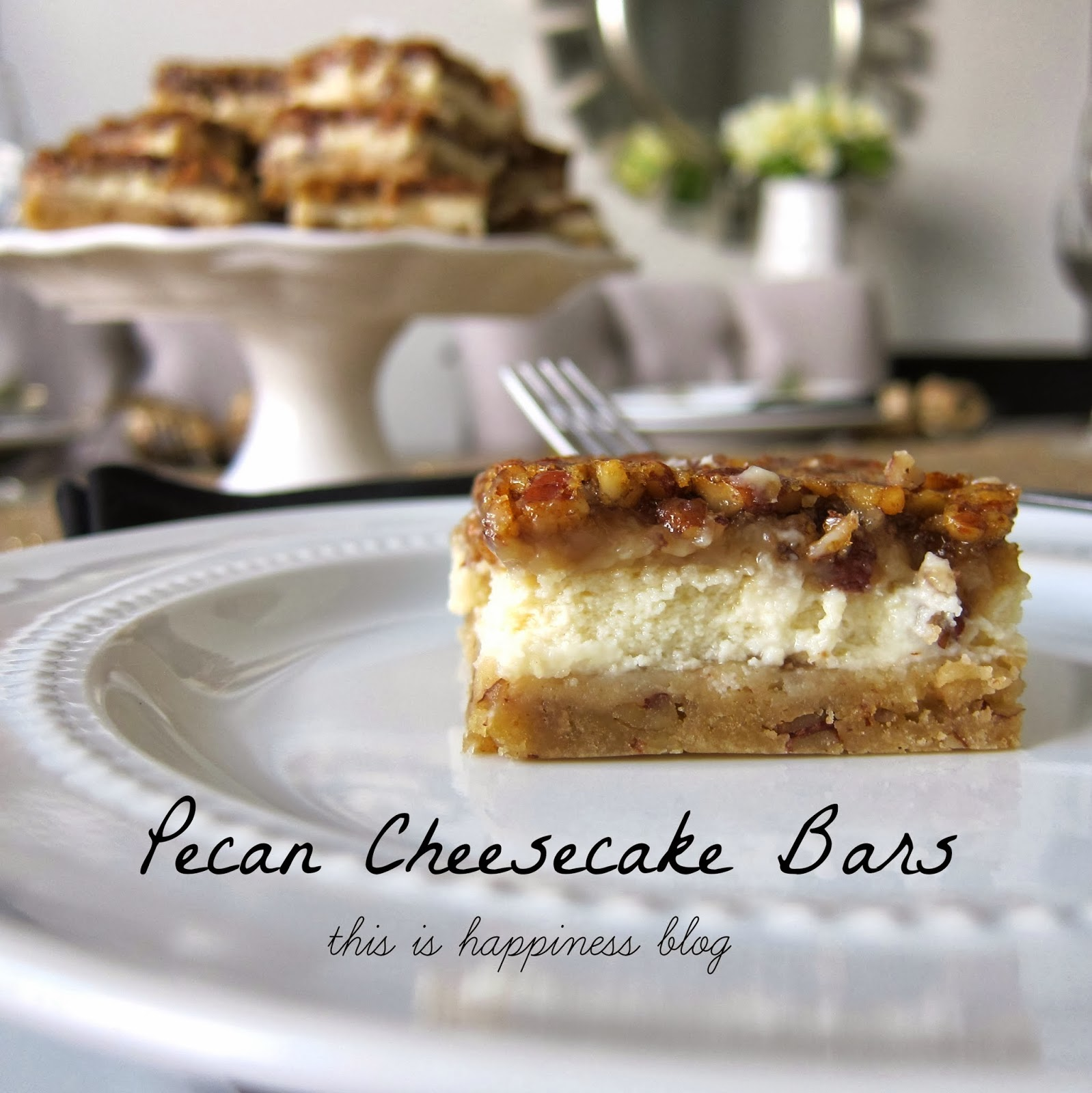 pecan cheesecake bars