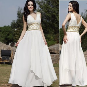 White A-line Halter Strap Wedding Dress