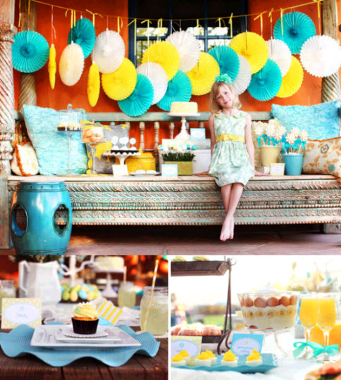 Turquoise and Yellow Party