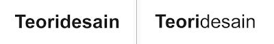 teknik penggabungan tebal-tipis font