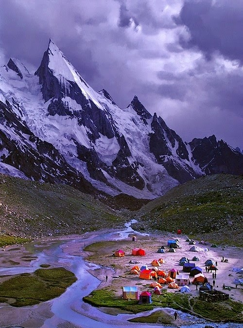 Laila Peak in Hushe Valley, Karakoram range of Pakistan.