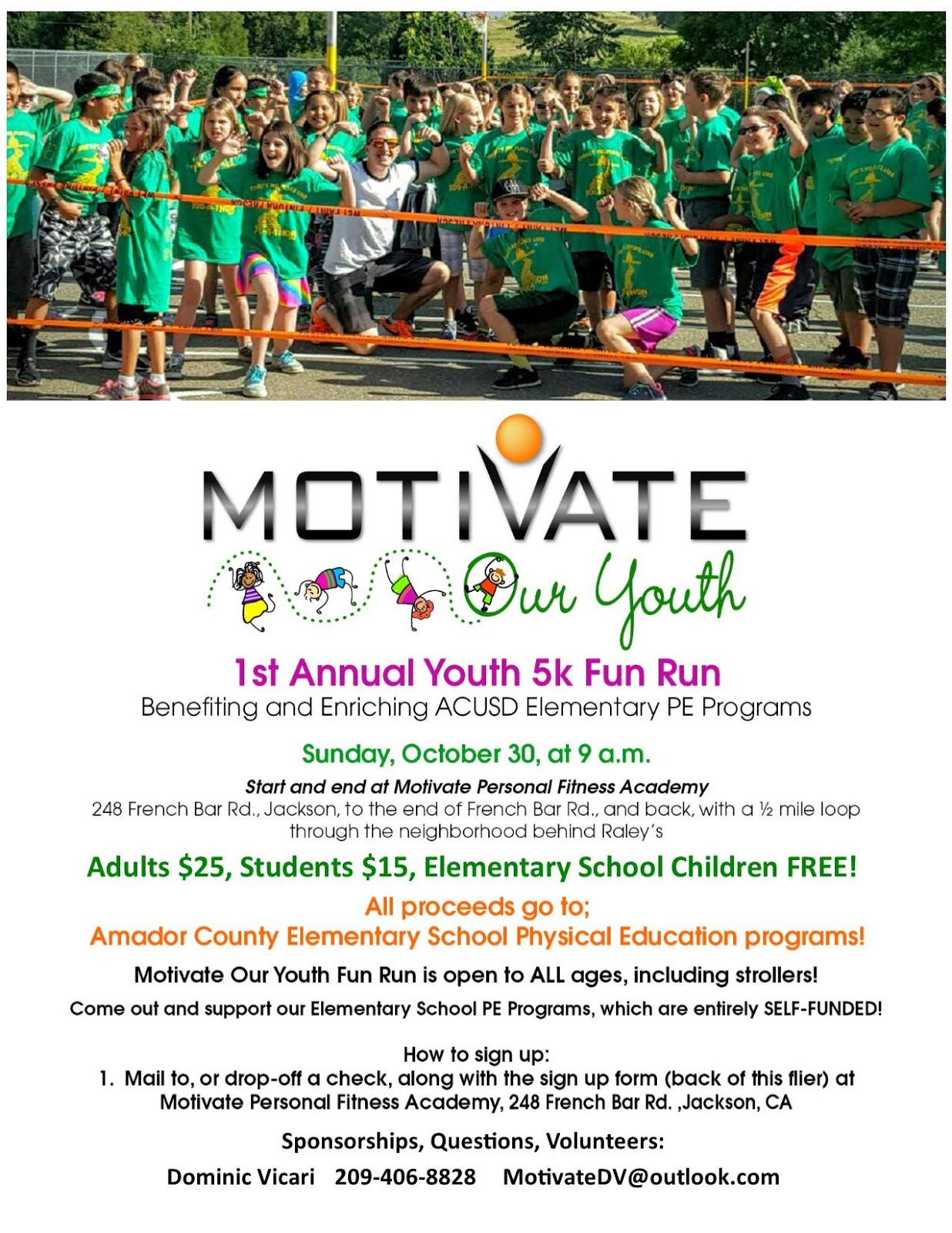 Motivate Our Youth: 5K Fun Run - Sun Oct 30