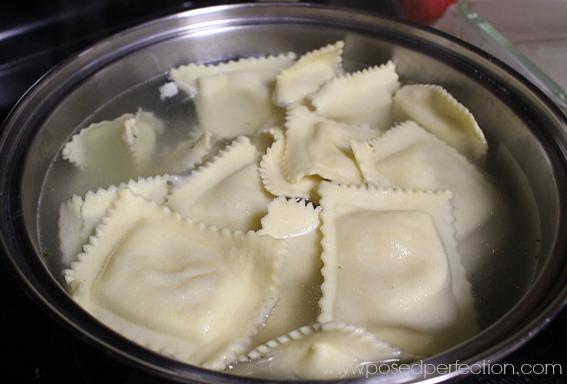 "Baked Ravioli ""Lasagna"" - Boiling ravioli"