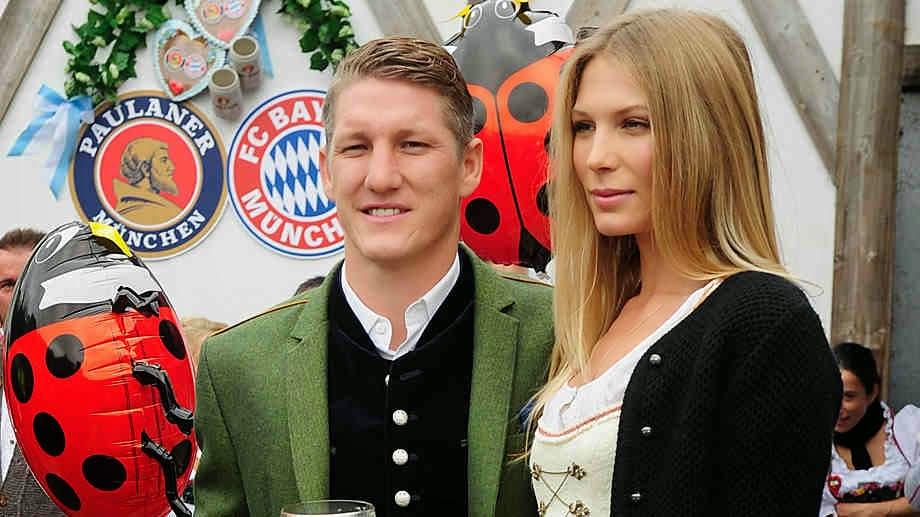Bastian Schweinsteiger and Sarah Brandner