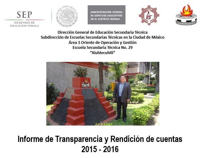 Rendición cuentas 2015-2016