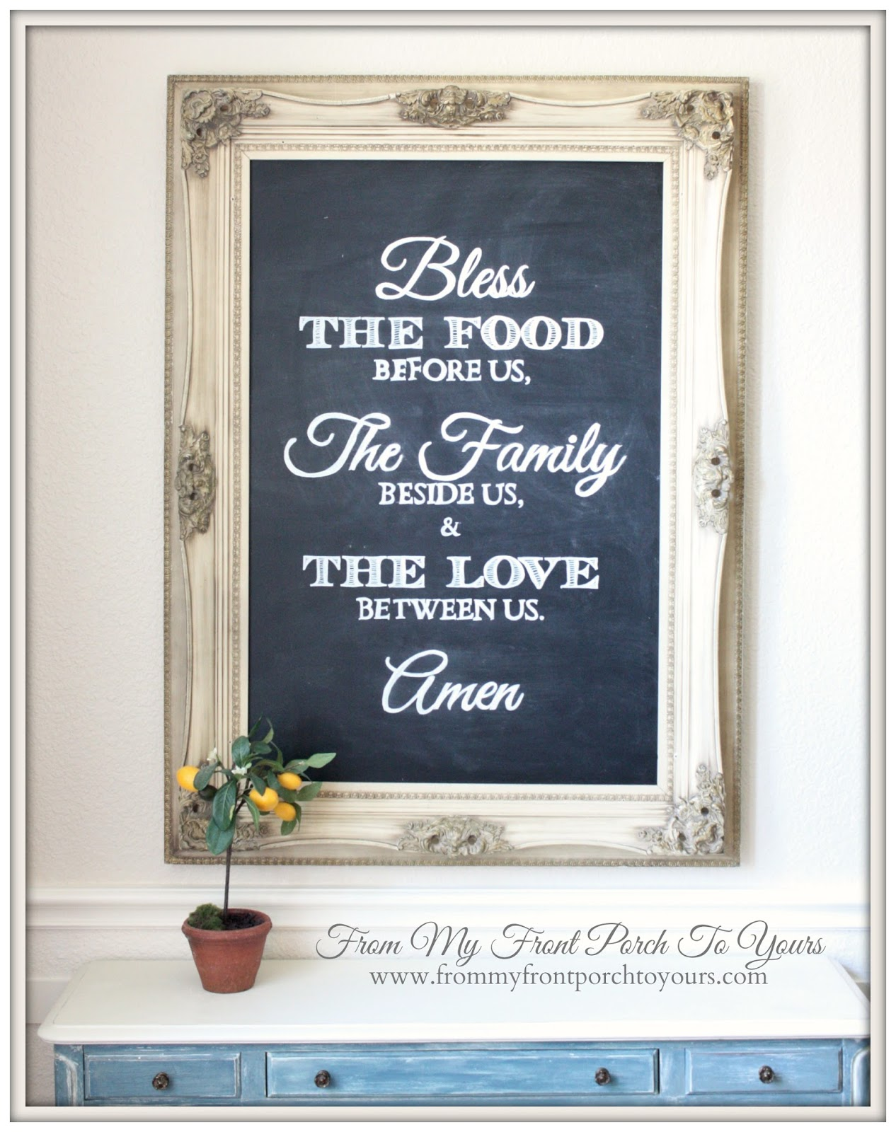 From My Front Porch To Yours  DIY Dining Room Chalk Board Tutorial