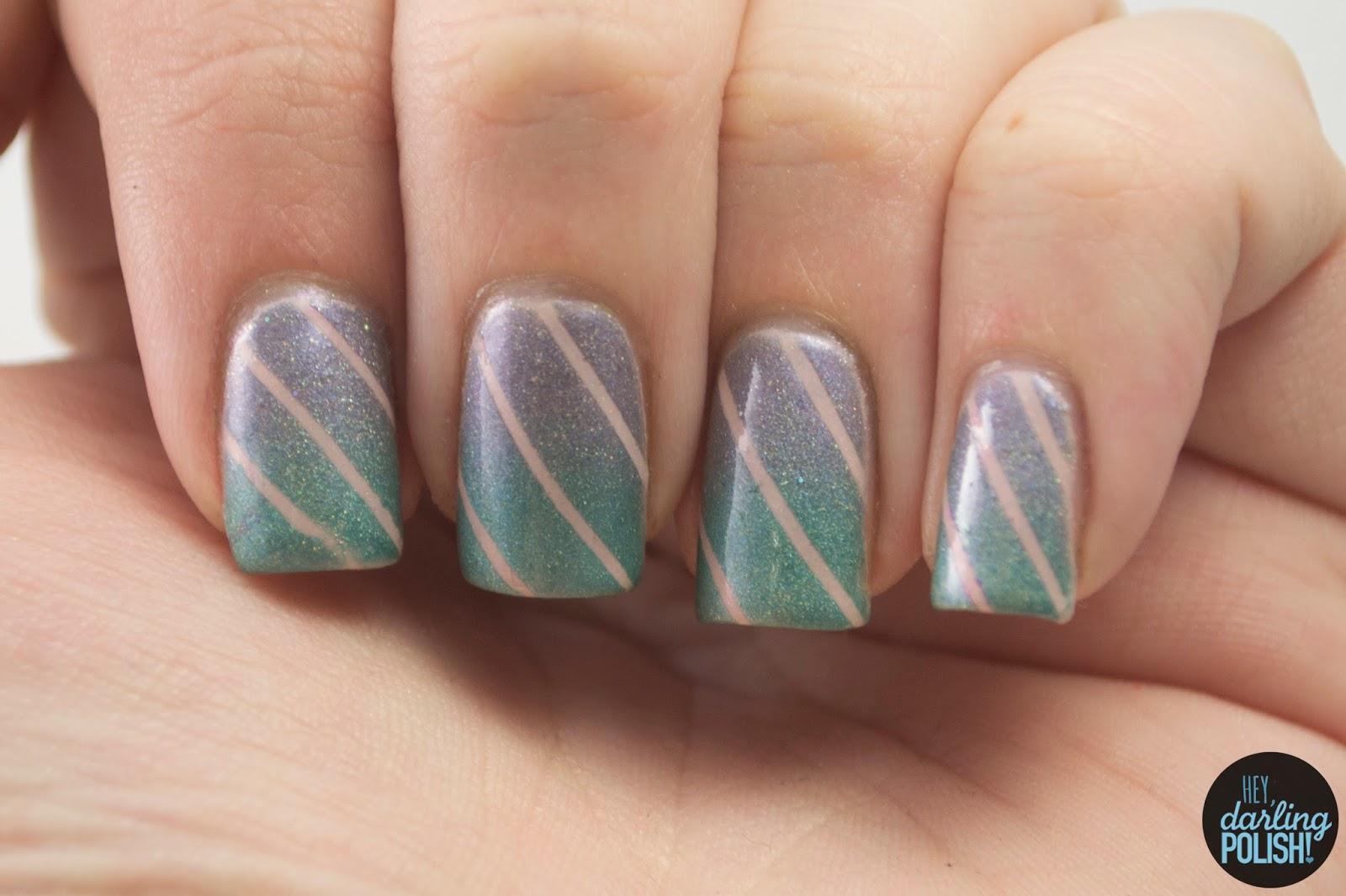 nails, nail art, nail polish, polish, gradient, teal, purple, pink, hey darling polish, indie, indie polish, indie nail polish, squishy face polish