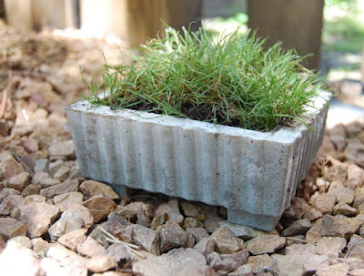 concrete casting DIY garden projects with concrete