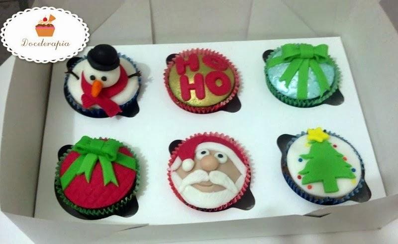 Doceterapia: Embalagem com Cupcakes Natalinas