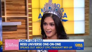 Miss Universe Pia Wurtzbach, Miss Colombia Ariadna Gutierrez, Steve Harvey