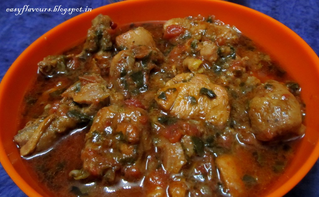 Methi Chicken / Chicken cooked with Fenugreek leaves & my 2nd and 3rd ...