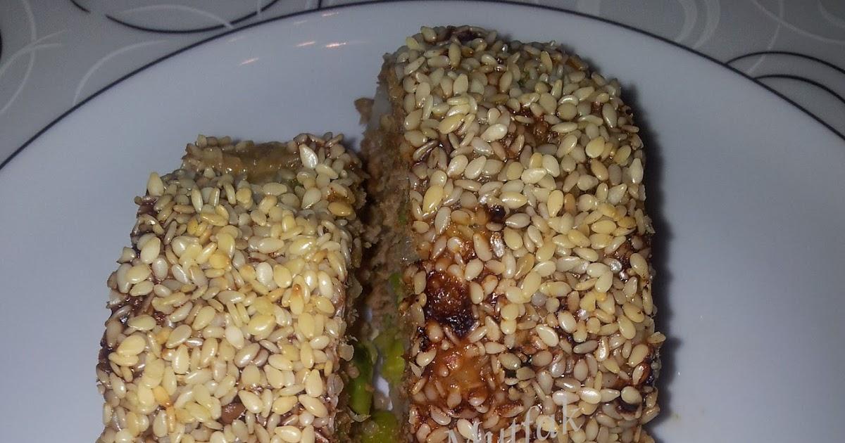Susam Kaplı Rulo Köfte ve Fırında Sebze