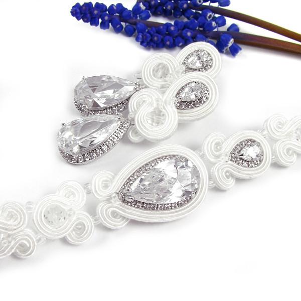 Komplet ślubny sutasz z kryształami Swarovski Novia Blanca