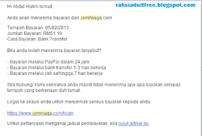 Komisen Pertama Jomniaga.com