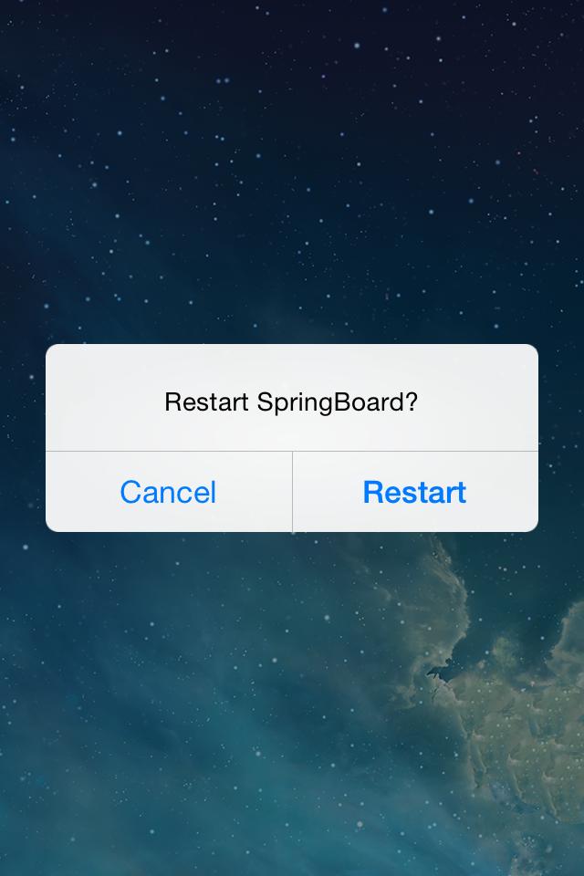SwipetoRespring iOS 7 Tweak