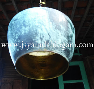 kerajinan lampu gantung minimalis tembaga kuningan