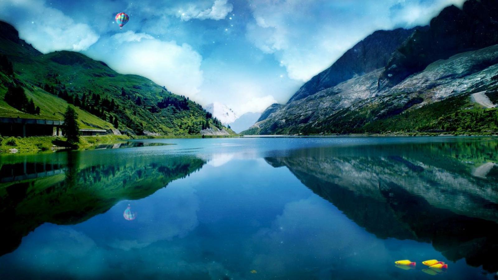 mountain lake reflections wallpapers - Mountain Lake Reflections Wallpapers desktopimages
