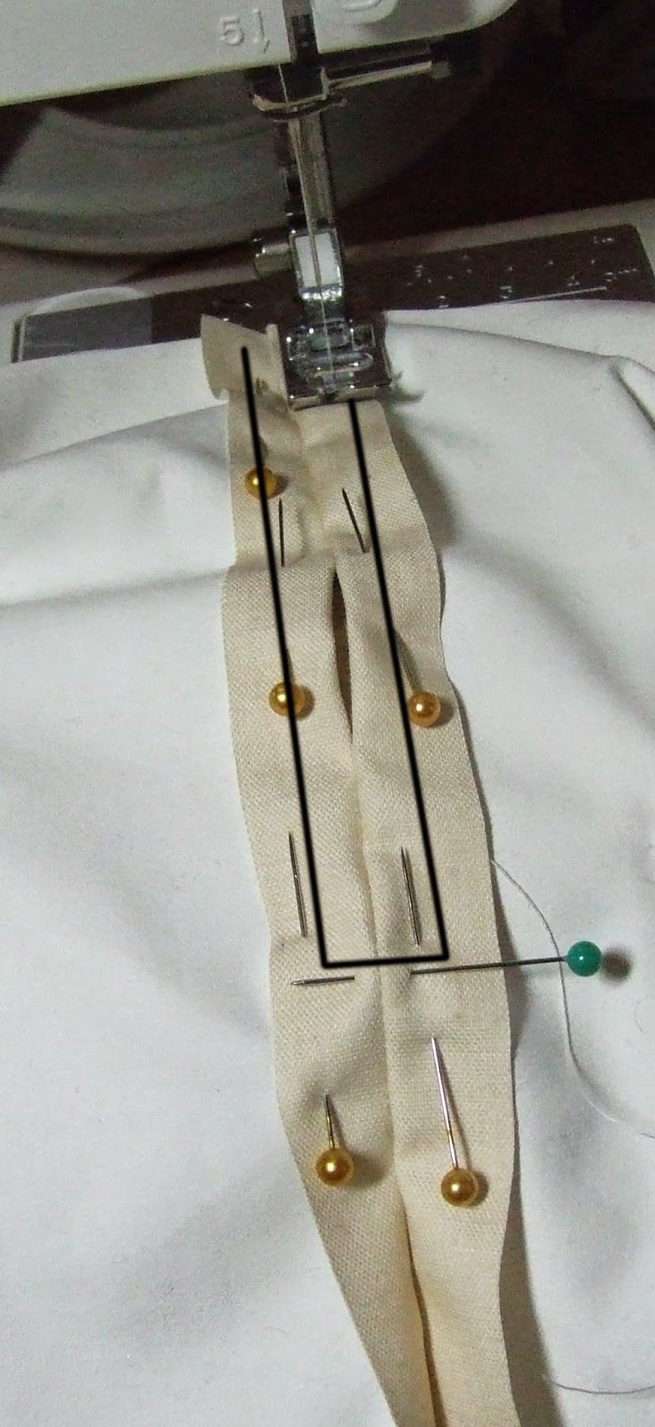 Sew round hole for string
